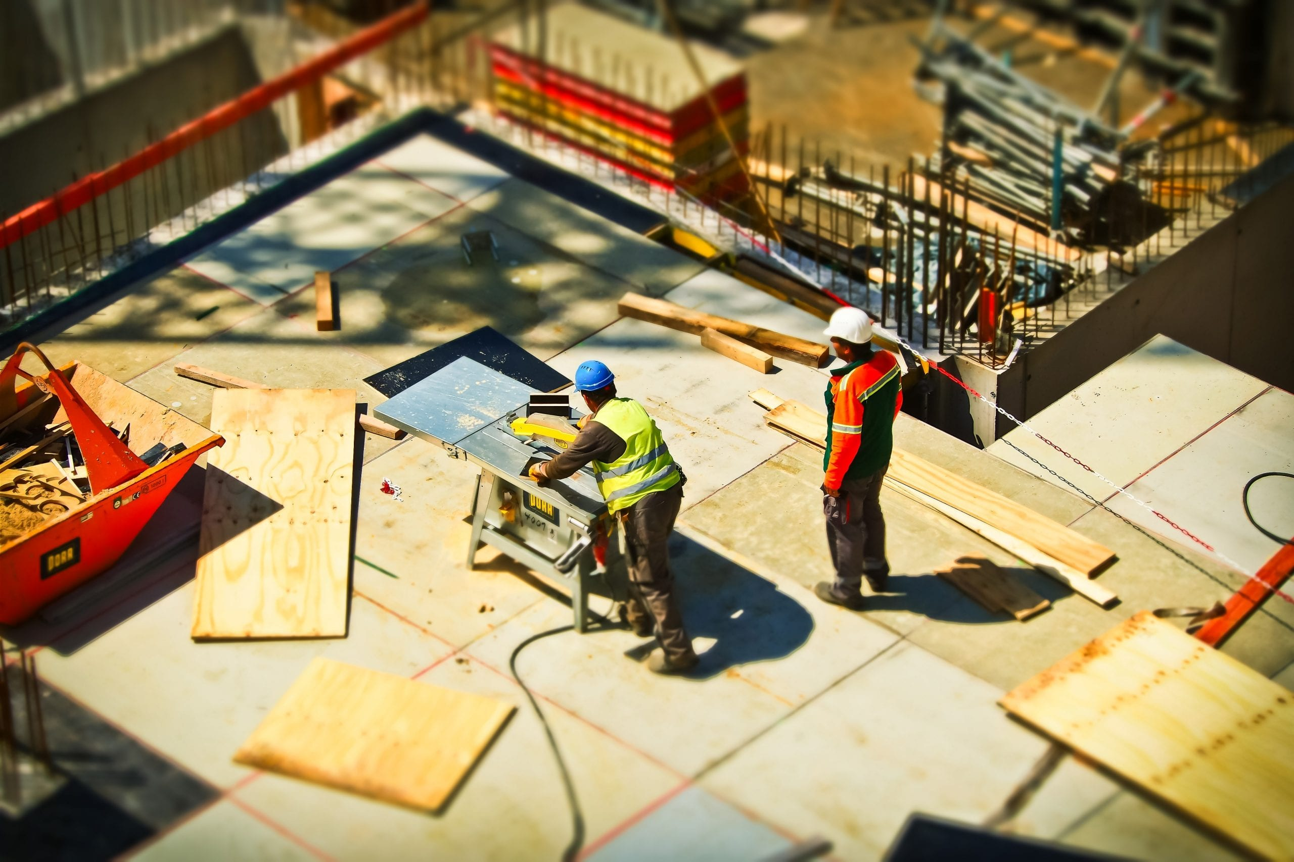 image of construction workers working on commercial construction project